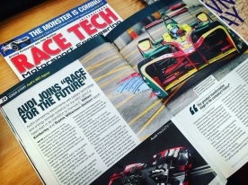 Audi Joins Race for the Future in Race Tech Magazine