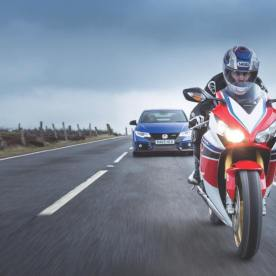 Honda Civic Type R vs. Honda Fireblade Cover Shoot - Credit Jonathan Fleetwood