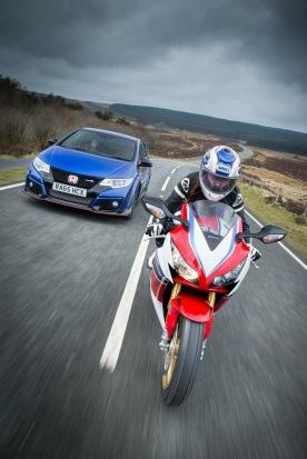 Honda Twin Test - Car vs. Bike