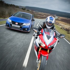 Honda Twin Test - Car vs. Bike
