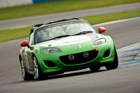 On Track in the Mazda MX-5 Production Race Car