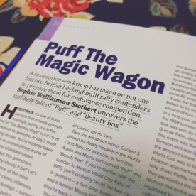 Puff the Magic Wagon feature in Historic Racing Technology Magazine
