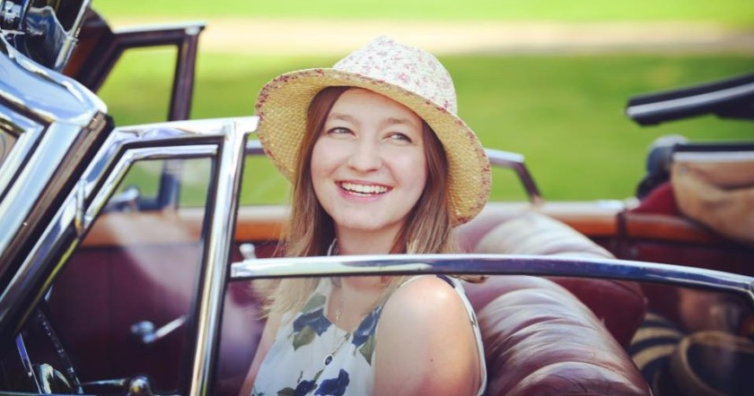Sophie at the Concours of Elegance at Hampton Court Palace in 2017