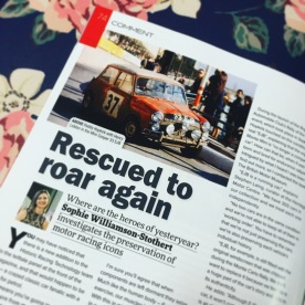Sophie's Choice column - Rescued to Road Again - in Historic Racing Technology Magazine